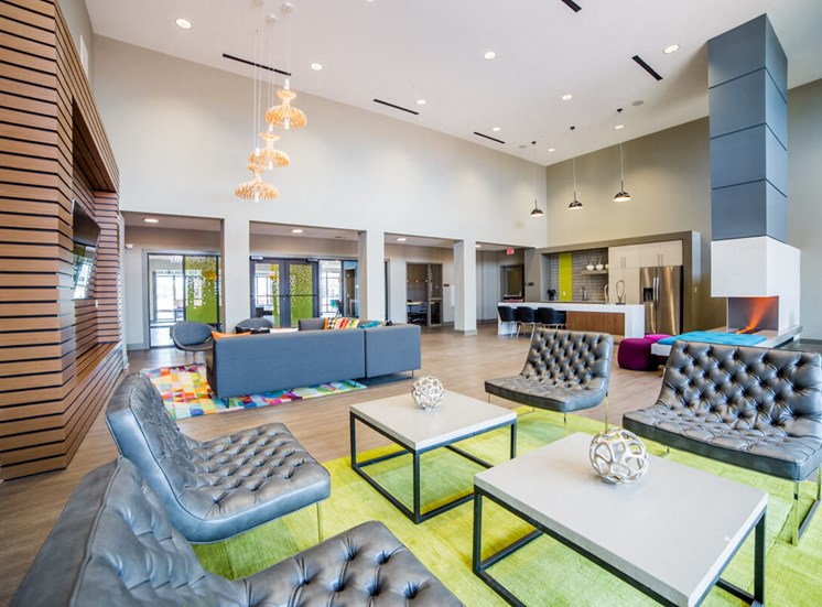Bright Clubhouse Mosaic at Levis Commons Apartments in Perrysburg, OH near Toledo