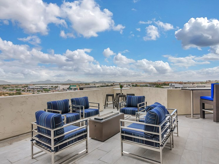 Rooftop deck with 360 views