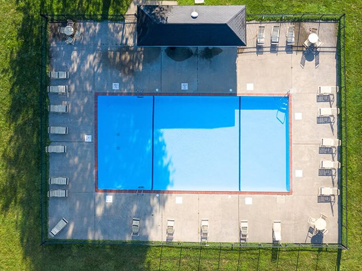 outdoor swimming pool at Georgetown Village Apartments