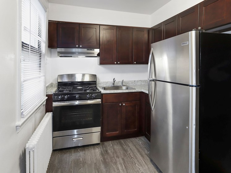 kitchen with stainless steel appliances and gas range