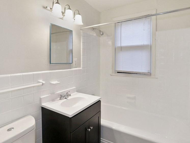 Full size bathroom with vanity