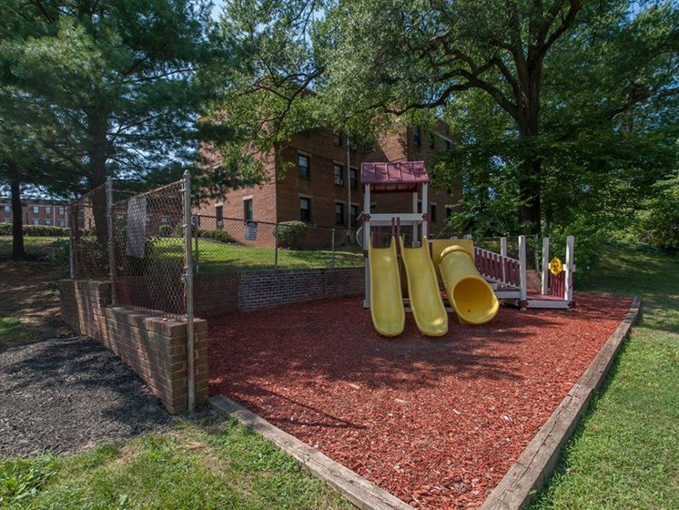 playground area with slides