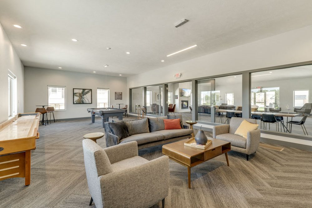 Interior view of the clubhouse at The Villas at Mahoney Park