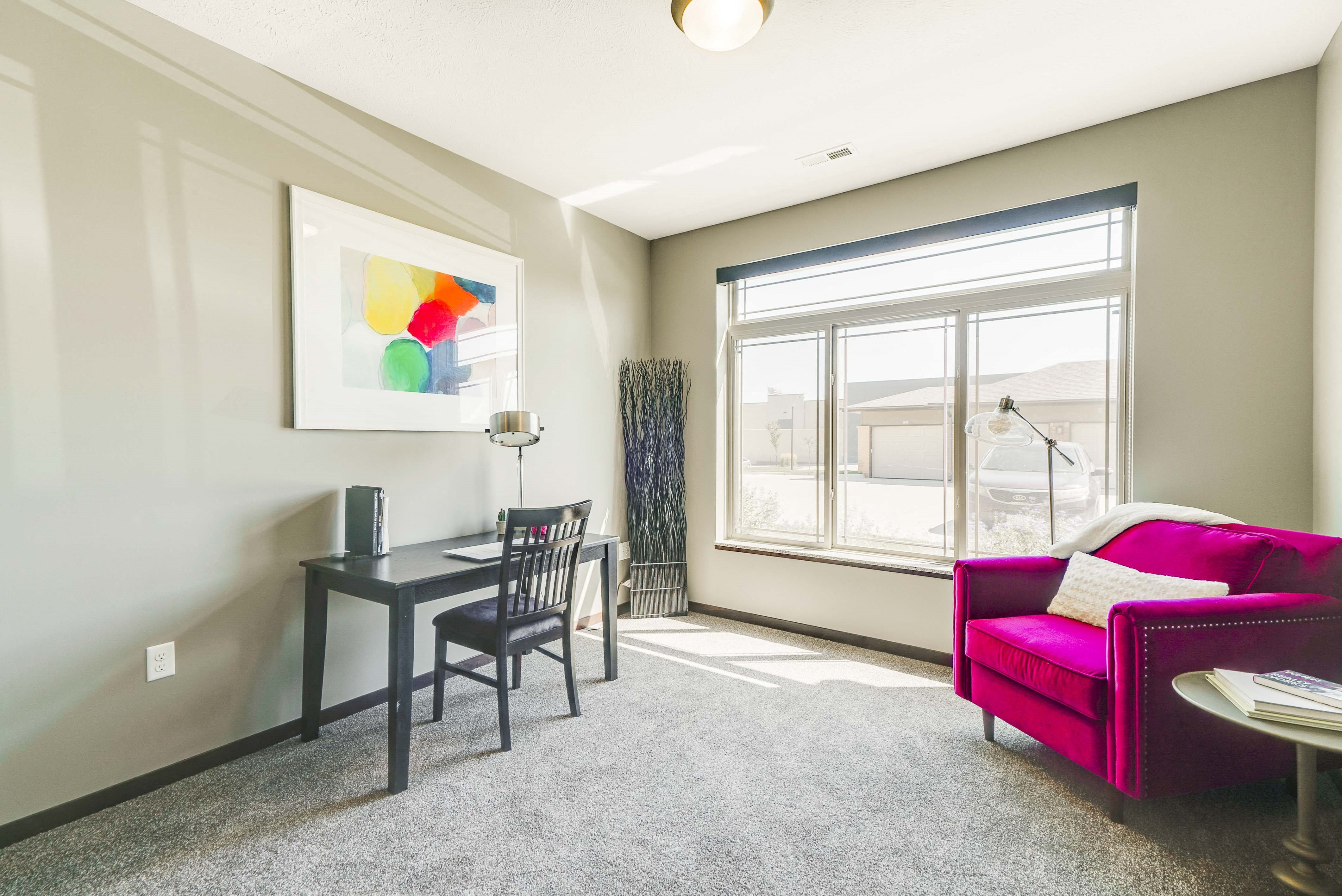 Large windows in a two bedroom apartment for rent at 360 at Jordan West best new apartments West Des Moines IA 50266