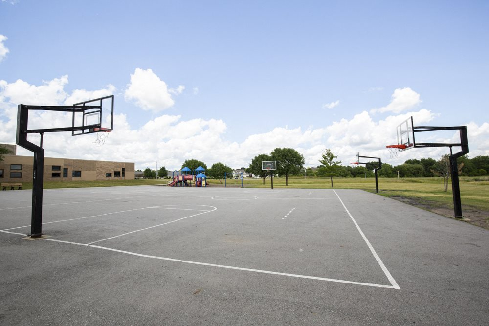 Basketball courts at Brookview Park near 360 at Jordan West best new apartments West Des Moines IA 50266