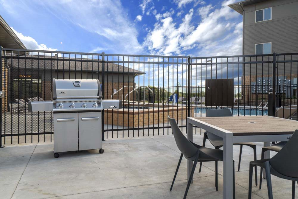Outdoor grill at 360 at Jordan West best new apartments West Des Moines IA 50266