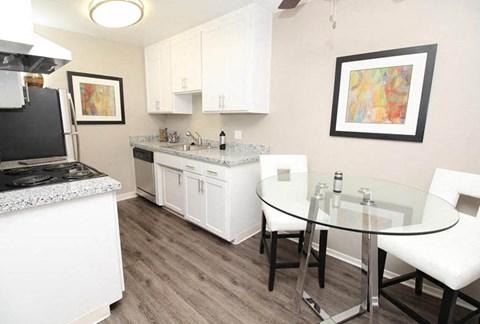 Kitchen l The Retro Apartments in Sacramento, CA