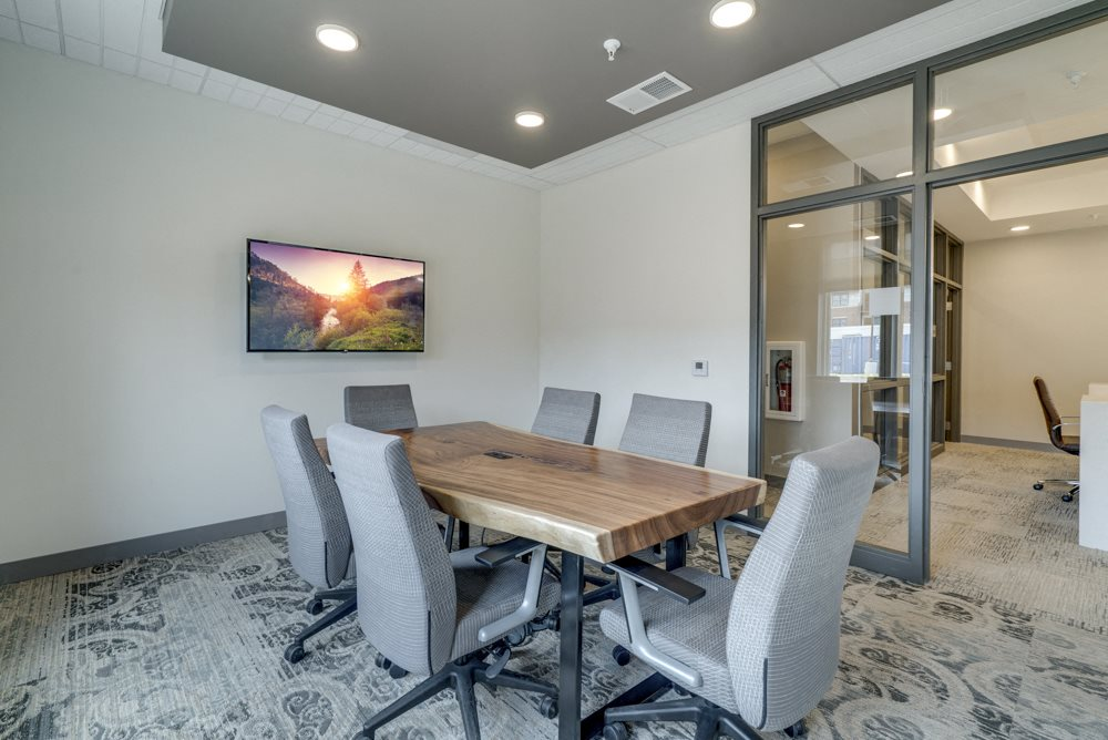 Resident conference room at Ascend at Woodbury apartments' clubhouse in Woodbury MN