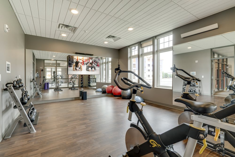 Yoga and spin studio at Ascend at Woodbury MN 55129 new luxury apartments