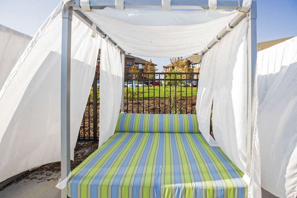 Pool-side resort-style cabana at Ascend at Woodbury MN 55129 new luxury apartments