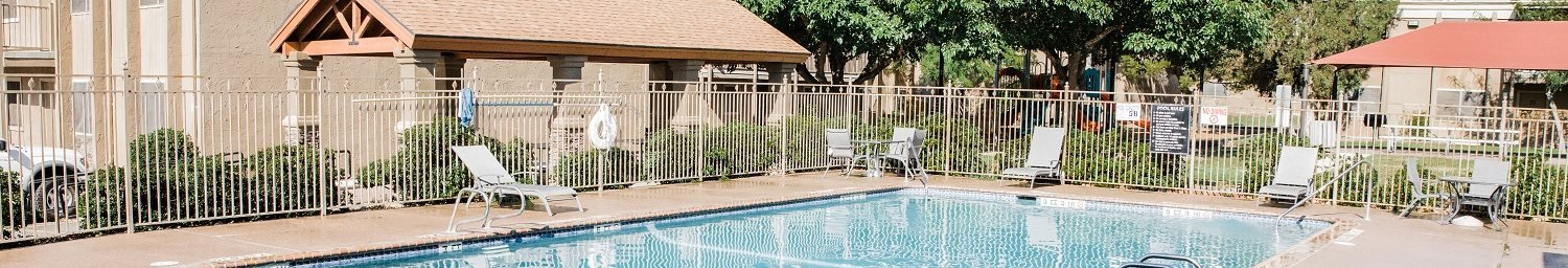 Pool Side Relaxing Area at Cantera Apartments, El Paso, TX