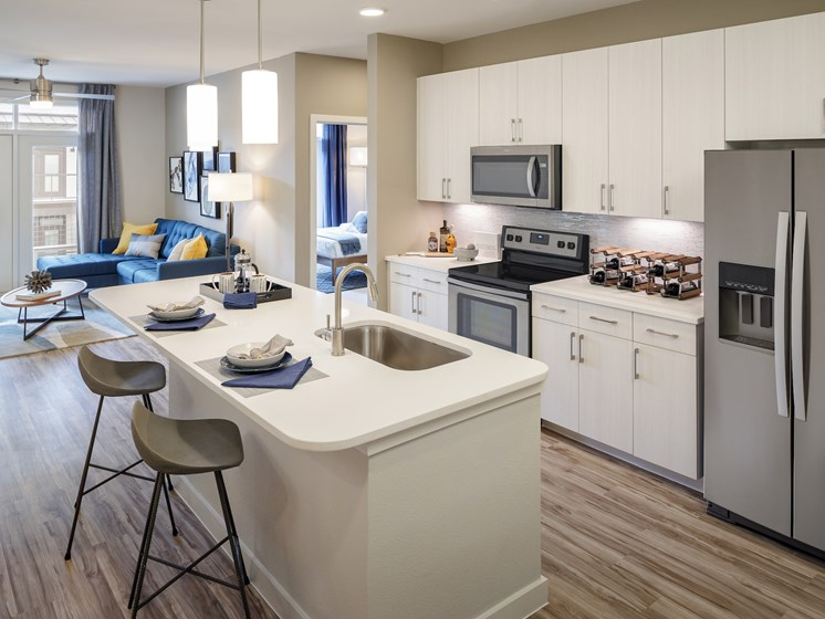 Chef Inspired Kitchen Islands  at The Baldwin at St. Paul Square, Texas