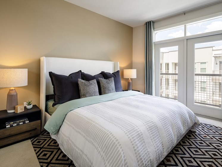 Large Bed at The Baldwin at St. Paul Square, San Antonio, TX, 78205