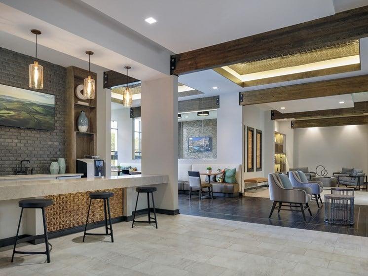 community kitchen at The Baldwin at St. Paul Square, San Antonio, TX, 78205