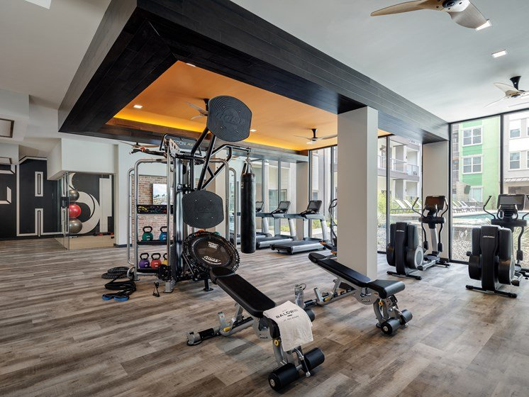 High-Tech Fitness Center at The Baldwin at St. Paul Square, San Antonio, Texas