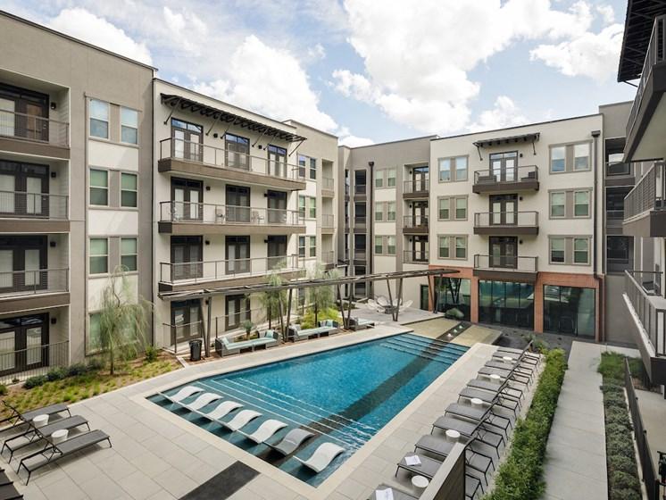 Resort-style Pool at The Baldwin at St. Paul Square, San Antonio, 78205