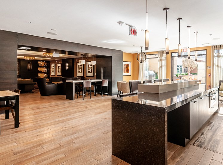 Northgate's clubhouse features a resident kitchen and dining area