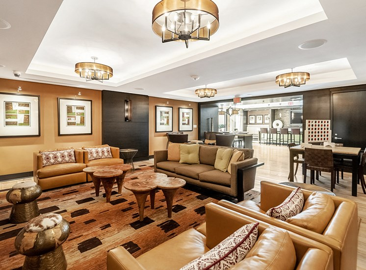 Northgate resident clubhouse with a game table