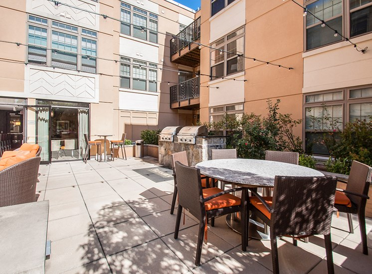 Northgate's courtyard features dining and BBQ areas