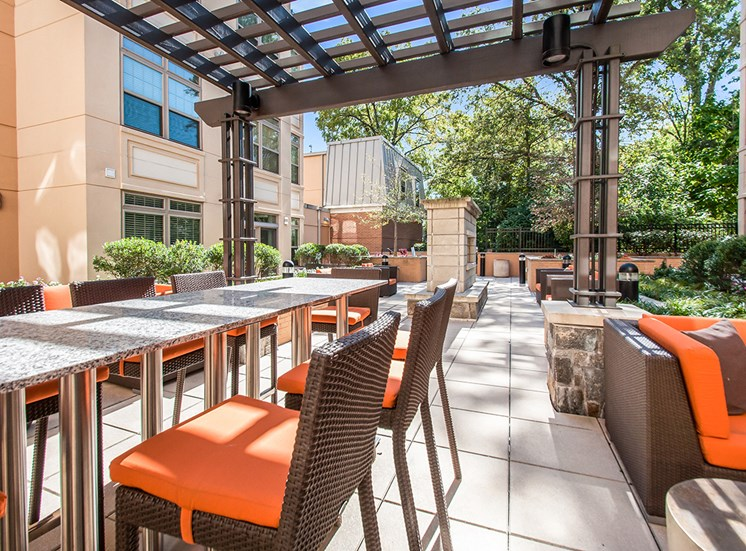 Ample seating in the courtyard at Northgate