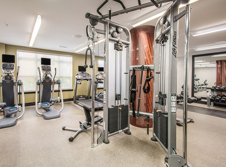 24-hour fitness center for Northgate apartment residents