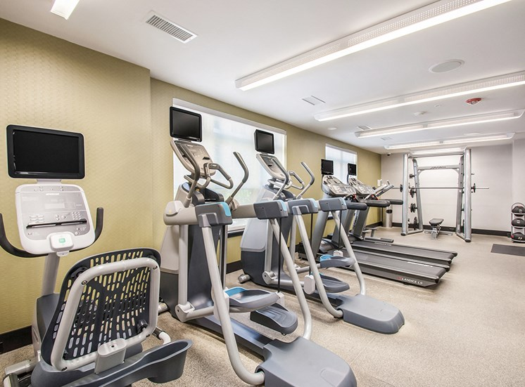 Treadmills in Northgate's 24-hour fitness center