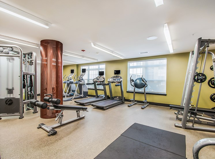 24-hour fitness center at Northgate apartments