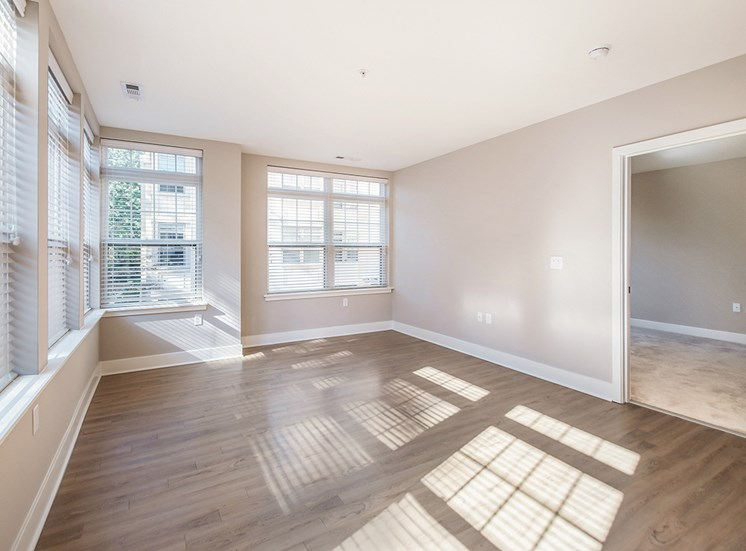 Northgate's apartments in Falls Church feature multiple windows and wood-style plank flooring
