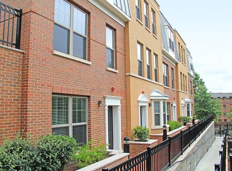 Northgate's colonial brick apartment exterior near Arlington, VA