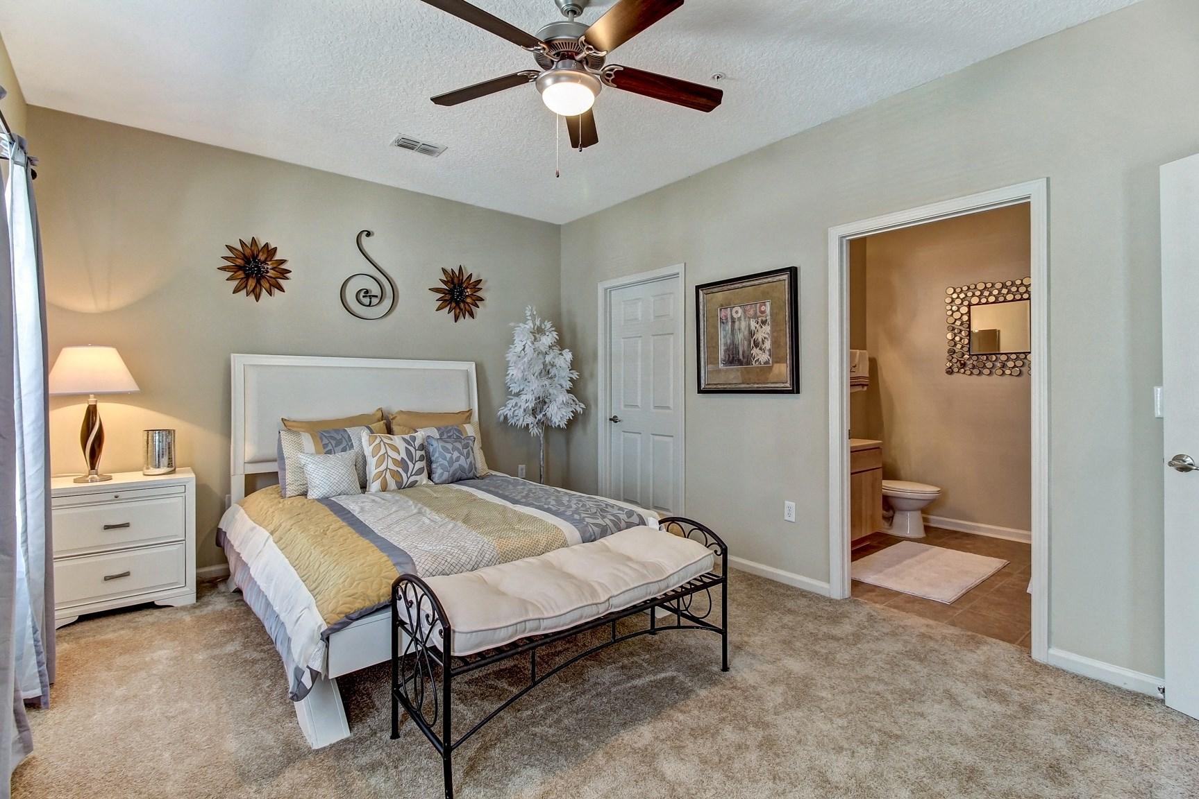 Bedroom at Magnolia Village Apartments in Jacksonville, FL
