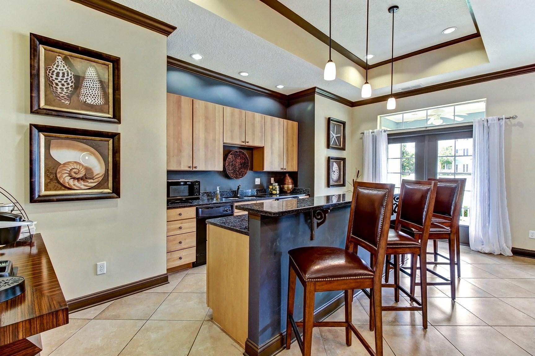 Community Kitchen at Magnolia Village Apartments in Jacksonville, FL