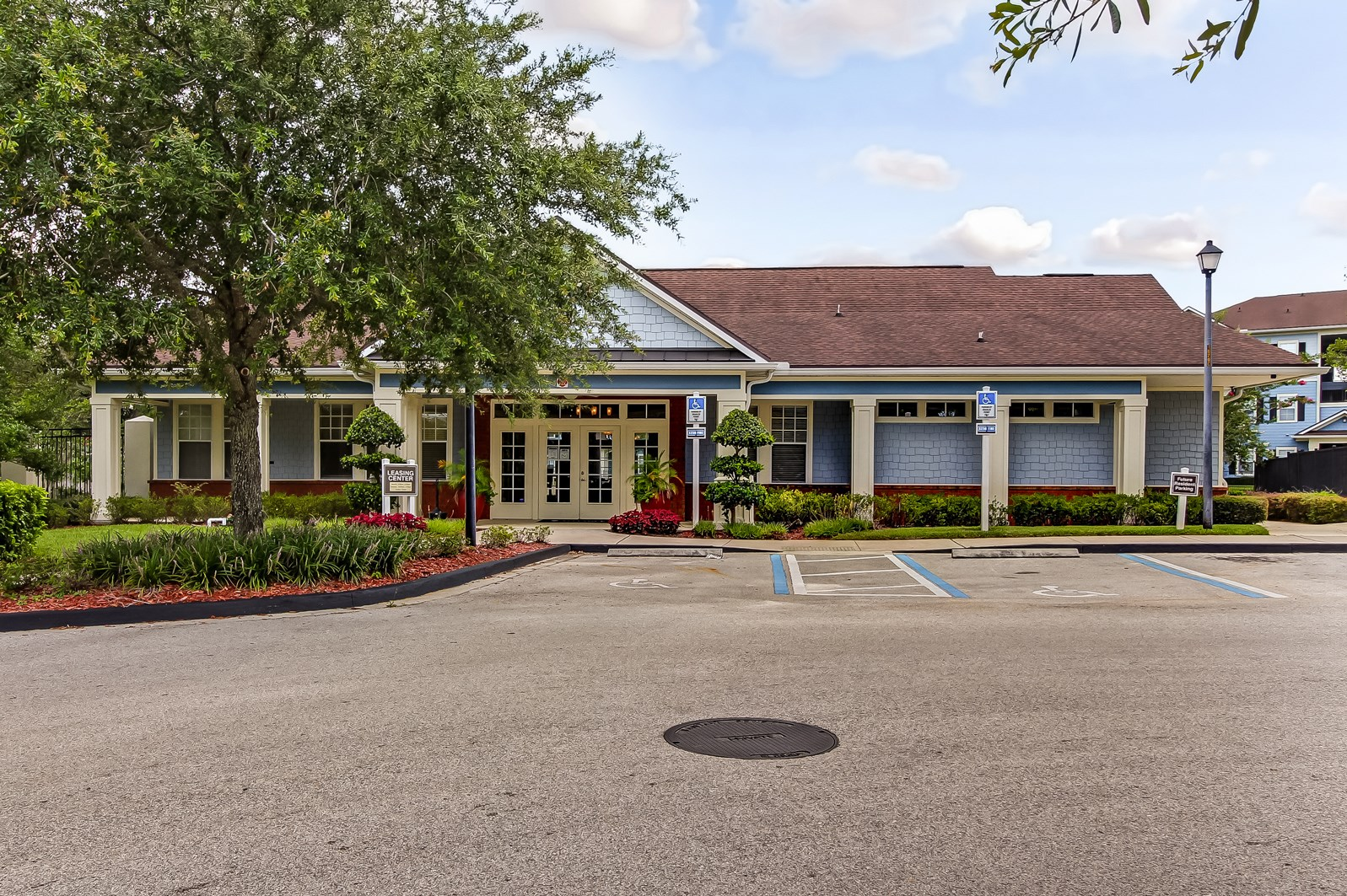 Clubhouse Exterior at Magnolia Village Apartments in Jacksonville, FL