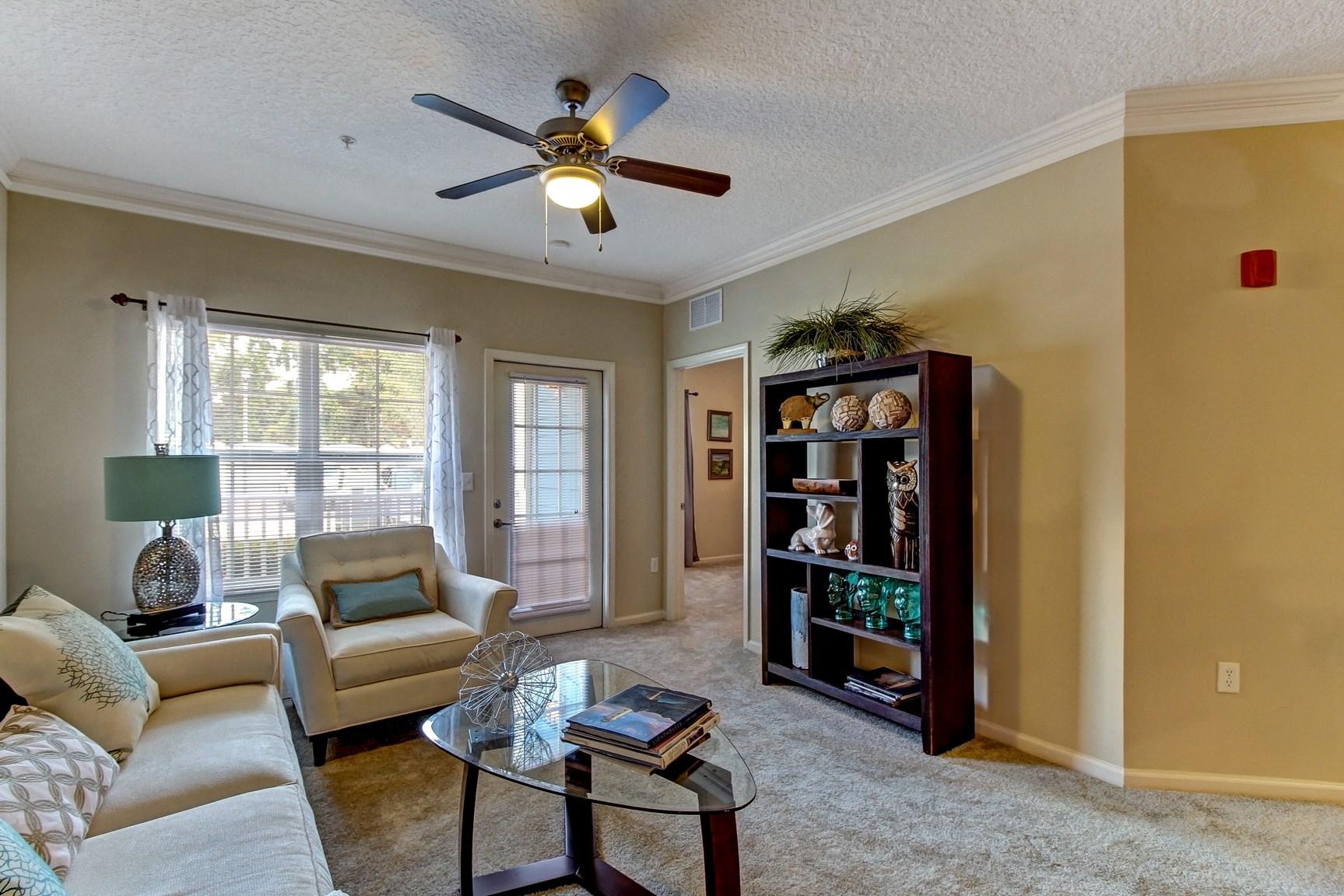 Living Room at Magnolia Village Apartments in Jacksonville, FL