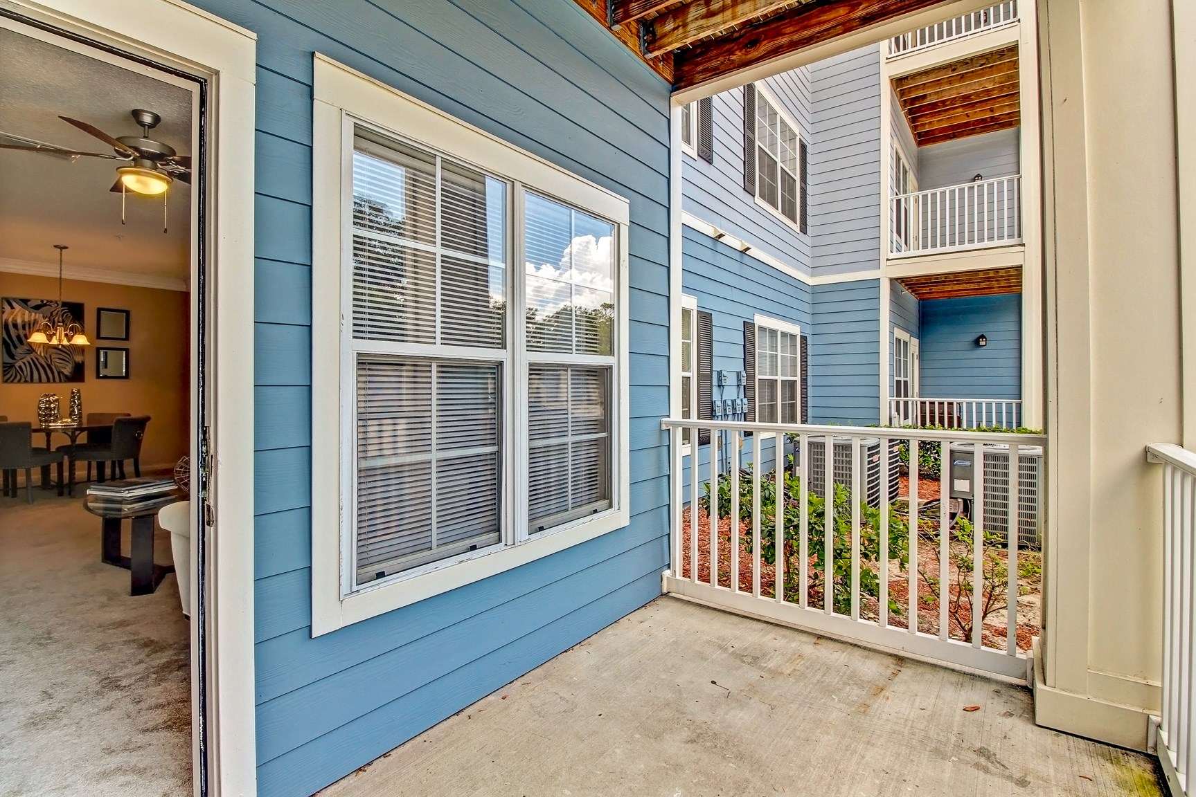 Balcony at Magnolia Village Apartments in Jacksonville, FL