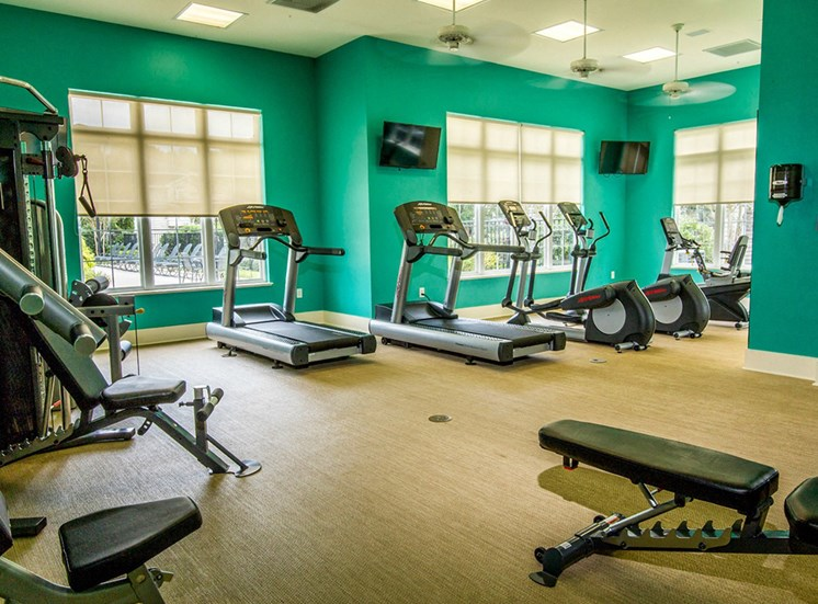24-Hour Fitness Center at The Grove at Oakbrook Apartments