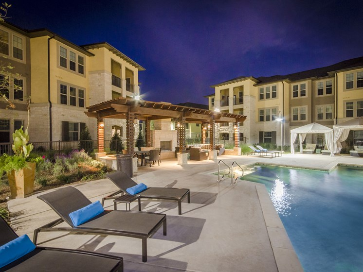 Resort Inspired Pool with Lounge and Cabana Areas at the Dominion, San Antonio, 78257