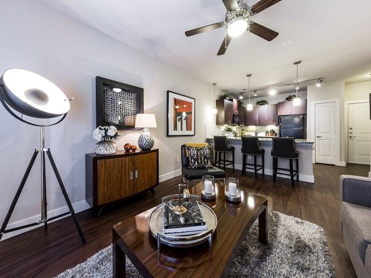 Apartments with Designer Lightning at Grand at the Dominion, San Antonio, Texas