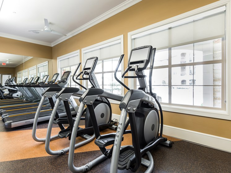 Fitness Center with Cardio Equipment at Grand at the Dominion, San Antonio