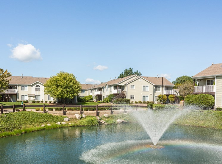 The Crossings at St. Charles Apartments Pond and Fountain