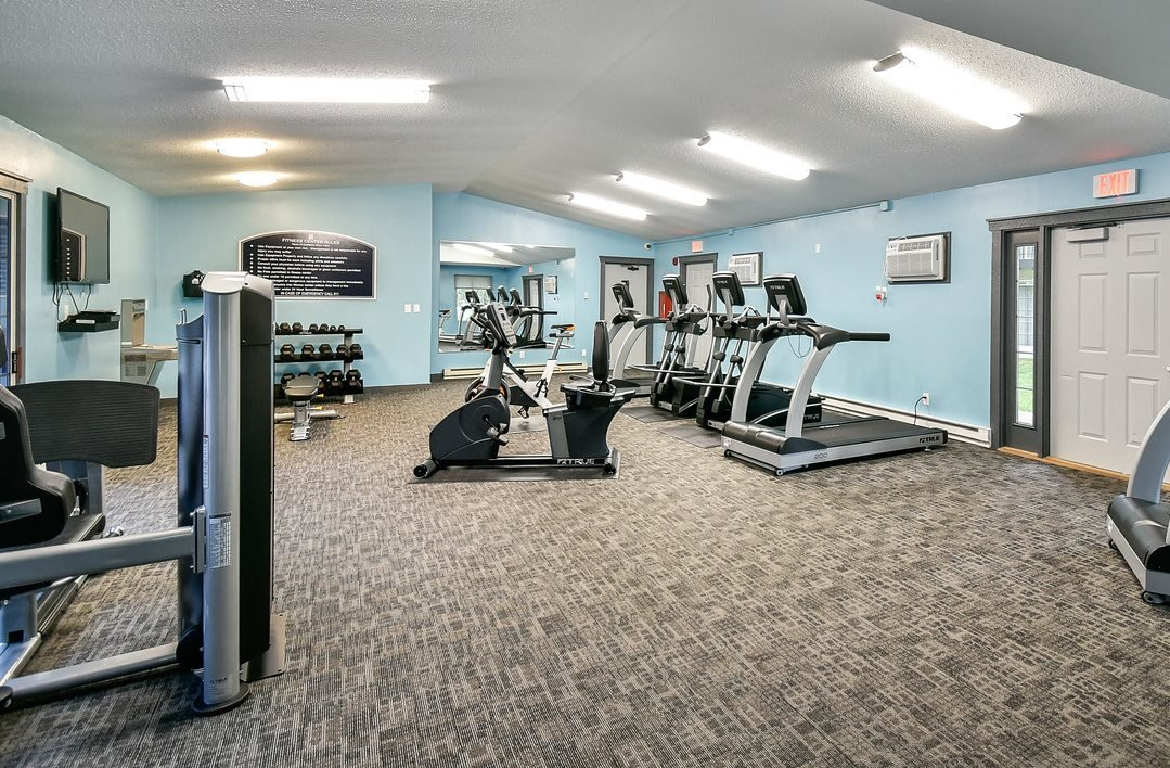 New state-of-the-art Fitness Center at River's Edge Apartments in Madison Wisconsin