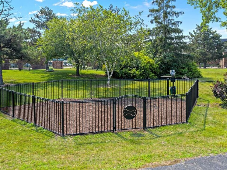 fenced in dog park at Fox Hill Glens apts