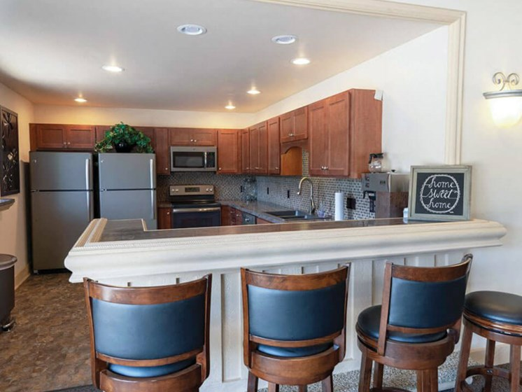 clubhouse kitchen in Grand Blanc