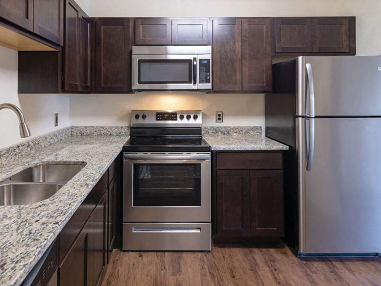 Upgraded Kitchen at Fox Hill Glens Apartments
