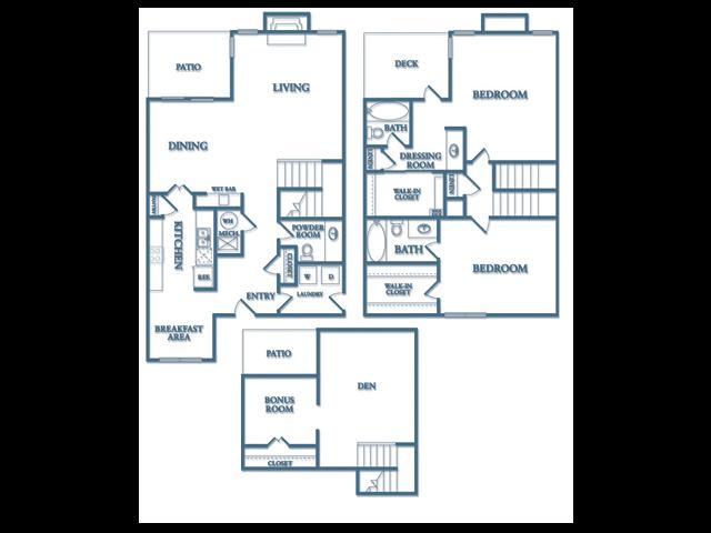 Floor Plans Of Dunwoody Village Apartments In Atlanta Ga