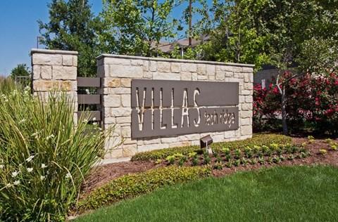 villas tech ridge sign