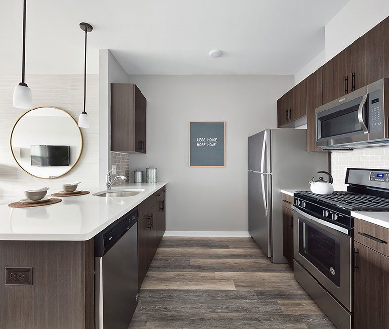 Modular Kitchen at The Link at Aberdeen Station, New Jersey