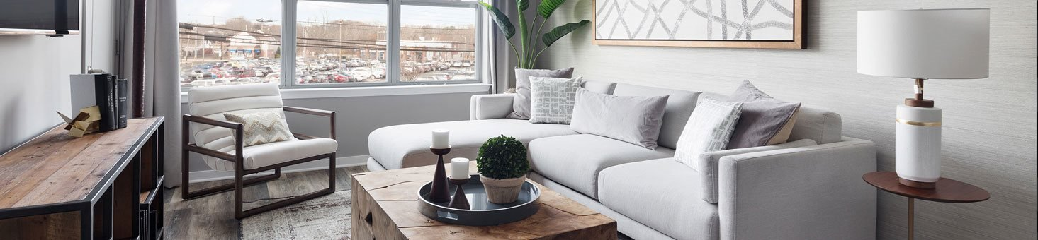 Luxurious Living Room at The Link at Aberdeen Station, New Jersey, 07747