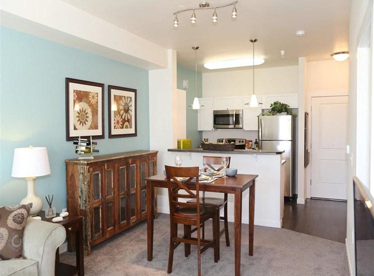 Model Living Room at Corso Apartments, Missoula
