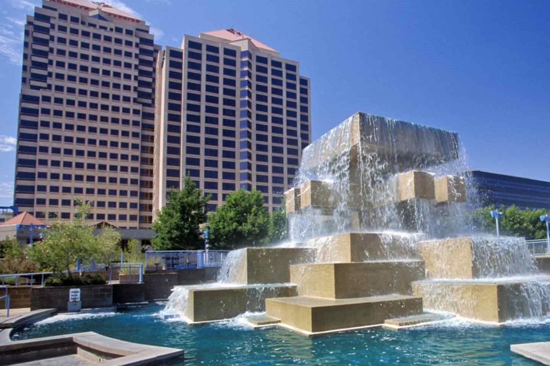 City building and fountain Cibola Village Rentals 12400 Montgomery Blvd., NE, Albuquerque, NM 87111