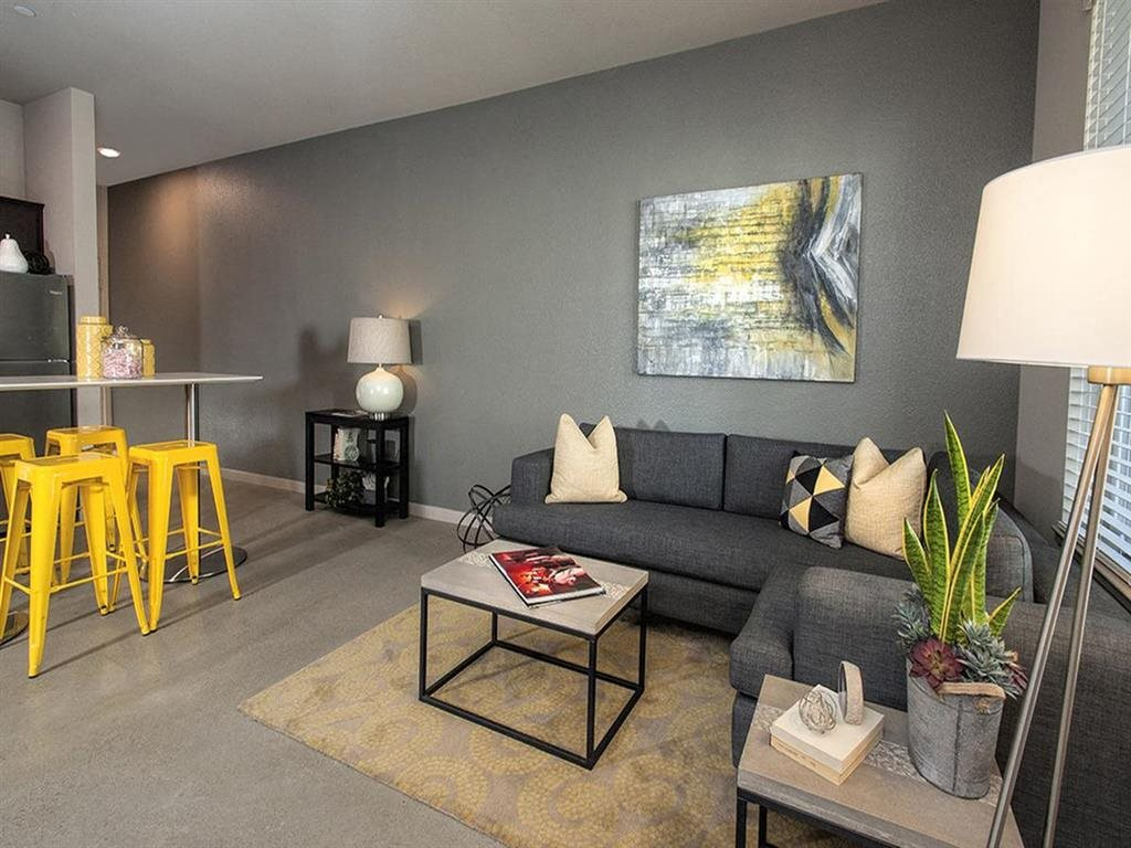 Living Room Downtown Oakland, CA Apartments for Rent - Mason at Hives Apartments Living Room
